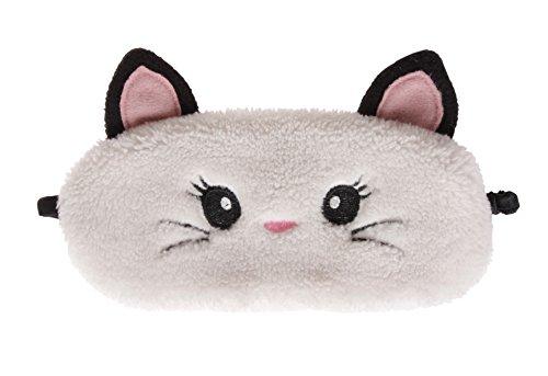 simpatici animali Fluffy Novelty sonno, maschera con orecchie 3d, cane carlino, Panda, Gatto, Coniglio, e gufo Cat Taglia unica