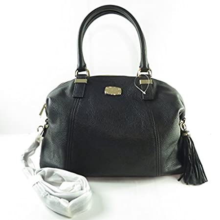 Michael Kors Tasche *CAMDEN LG TZ Satchel* Leder Damen Henkeltasche schwarz Maße: 35x30x12cm (BxHxT)
