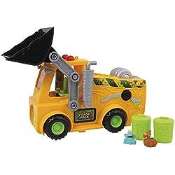 Trash Pack - Vehículo bulldozer y 2 figuras (Giochi Preziosi 06836)