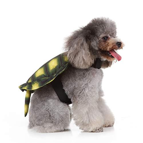 Balacoo Schildkröte Hund Kostüm-lustige Haustier Kleidung Haustier Rucksack kleine Schildkröte Cosplay Kleidung kreative Halloween Weihnachten Kostüm für Welpen Hund-Größe s (Schildkröte Hunde Kostüm)