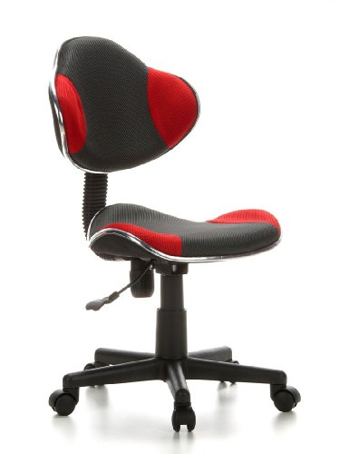 hjh OFFICE 633002 Kiddy GTI-2 - Silla de escritorio para niños, color gris y rojo