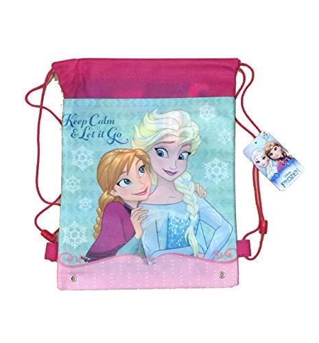 Frozen Anna Elsa Sacca Portascarpe Sacca Sport Zaino morbido cm 35x26