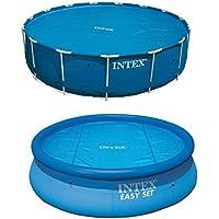 Mac Due Intex 29025 - Telo di copertura estivo per piscine fuoriterra Easy-Frame, tonde, diametro 549 cm