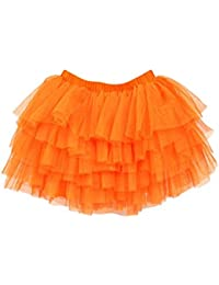 TOOGOO(R)Baby Girls Princess TUTU SKIRTS Pettiskirt Short Mini Dresses Dancewear orange 140cm