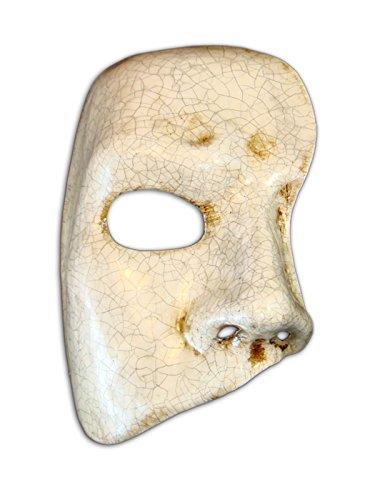 ske Phantom für Männer (weiß gebrochen) (Mardi Gras Maske Für Männer)