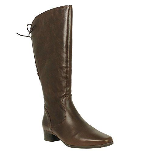 JJ Footwear Damen Stiefel Leder Cardiff XXL Espresso Dream