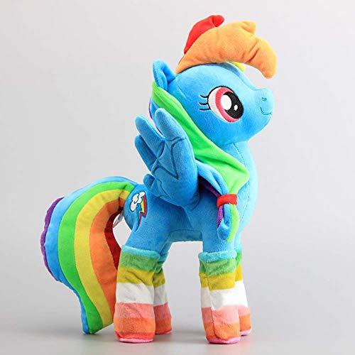 lzpoyaya Pferde Rainbow Dash Soft Push Toy Dolls Kuscheltiere (Blau) 30Cm