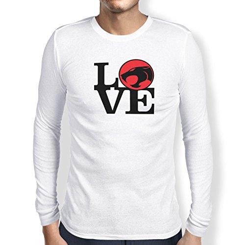 TEXLAB - Thunder Love - Herren Langarm T-Shirt Weiß