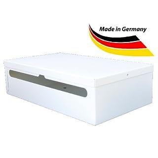 KabelOrdnung Metall-Kabelbox (45 x 25 x 12 cm), Kabelmanagement-Box zum Verstecken überschüssiger Kabel im Büro und zu Hause - Made in Germany