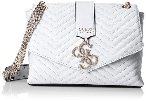 Guess Violet Shoulder Bag, Borsa a tracolla Donna, Bianco, 28.5x17x10 cm (W x H x L)