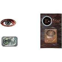 lentilles de couleur sans correction fantaisie annuelles valables 1 an gris vert bleu marron violet eclipse