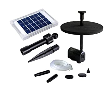 Solar Fountain Pump 2w - Floating Water Pump For Small Pond, Garden, Water Feature, Bird Bath 70 Cm Height By Pk Green 1