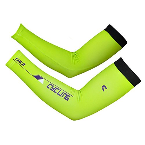Ein-arm-laufwerk (bureze Herren Sommer Atmungsaktiv Schnell Trocknend Radfahren lange Manschetten Klettern Antrieb UV Arm Sleeve)