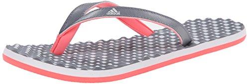 Adidas Performance Eezay Dots W Athletic sandalo, grigio / bianco / svasata, 5 M Us Grey/White/Flared