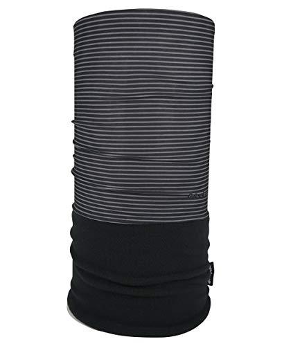 WÄRMENDES FLEECE Multifunktionstuch Polar Schlauchtuch das Halstuch für kalte Herbst und Wintertage. aktuelle Farben, Farbe Polar Tuch:schwarz - graue Streifen