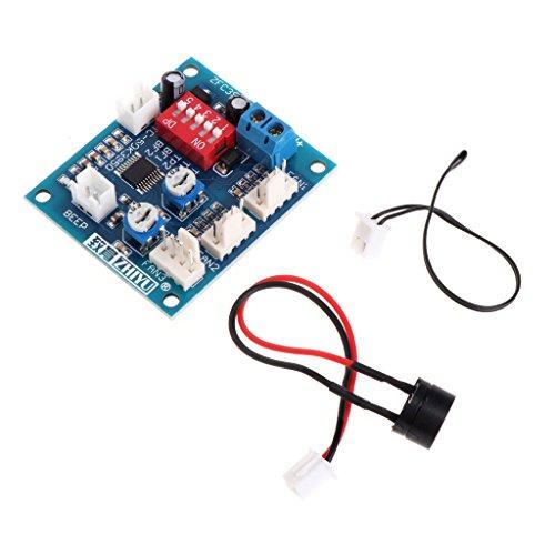 haia7k4k 12 V CPU-Lüfter Temperaturregelung PWM Geschwindigkeitsregler Modul Alarm Buzzer Sensor