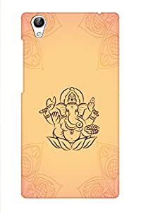 AMAN Lord of Ganesha Gradient Colour 3D Back Cover for Vivo Y51L