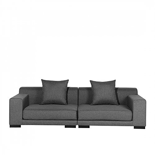 Sofa Dunkelgrau Couch 2er Sitzer Stoffsofa Designersofa