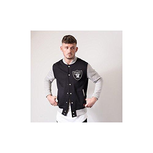 Majestic NFL Oakland Raiders Fleece Letterman Jacket