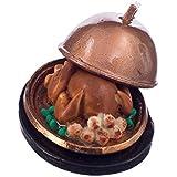 MagiDeal 1:12 Miniature Dinde De Noël avec Couvercle Maison De Poupée Accessoire Petit Rôti Nourriture Alimentaire en Résine