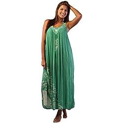 Ingear Tie Dye paraguas vestido, largo vestido de Batik