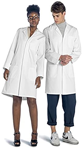Costumes Médecins Lab Coat - Dr. James Blouse Blanche de Laboratoire 100%