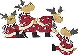 khevga Weihnachtsdeko Purzelnde Elche für Türrahmen-Deko aus Holz