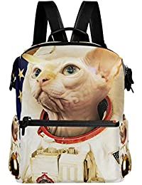 Montoj Astronaut - Mochila de Viaje de Piel para Gatos, sin Pelo