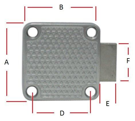 2 x Zylinder-Möbelschloss Möbelschloß Aufschraubschloss gleichschließend Schloß