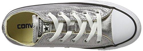 Converse Mandrini grigio 153180C stagionali Metallics Gunmetal Bianco Nero Multicolore