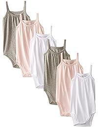 Burt's Bees Unisex Baby Set of 6 Solid Camisole Bodysuits