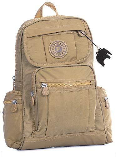 Big Handbag Shop Lightweight Fabric Mini Backpack Rucksack School Work  Travel Gym College Bag (Beige 64649652182