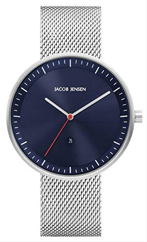 Jacob Jensen Herren Analog Quarz Uhr mit Edelstahl Armband JJ279