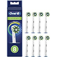 Oral-B CrossAction Cabezales de recambio con tecnología CleanMaximiser, Pack de 8
