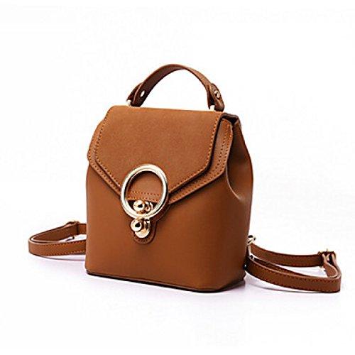 DFUCF Damen Damen PU Büro Beruf Umhängetasche Kuriertasche Handtasche Umhängetasche Mode Lässig Robust Langlebig Draußen Party Brown
