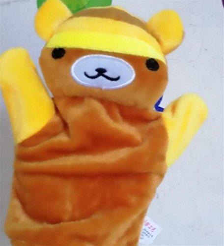 (Upstudio Nettes Kindertierplüsch-Handpuppe Weichem Plüsch Handpuppen Tier Spielzeug für Kinder Kinder (Bee Bear))