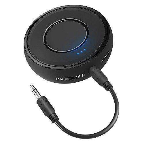 Bluetooth V4.1 Empfänger, HiGoing Bluetooth Receiver Mini Drahtlos Audio Adapter Musik Adapter 14 Stunden Spielzeit mit Stereo 3.5 mm Aux Input für Heim HiFi Auto Lautsprechersystem