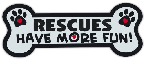 Dog Bone Shaped Magnets: Rescues Have More Fun! | Cars, Trucks, Mailboxes by Crazy Sticker Guy (Fun Mailbox)