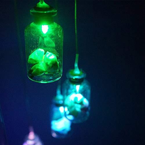 JoyFan Solar Mobile Windspiel 6 Wunschflaschen Farbwechsel Wasserdicht LED Hängelampe Nachtlicht für Outdoor Garten Haus Dekoration, Multi, Mirror Ball (Solar-outdoor-hängelampen)