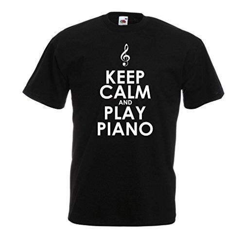 Männer T-Shirt Klavier - Musiker zitiert (Small Schwarz - Musikalische Halloween-ideen