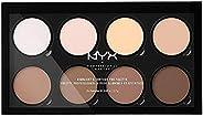 NYX PROFESSIONAL MAKEUP, Highlight & Contour Pro Palette, Powder Contour Kit, 8 blandbara och matta nya