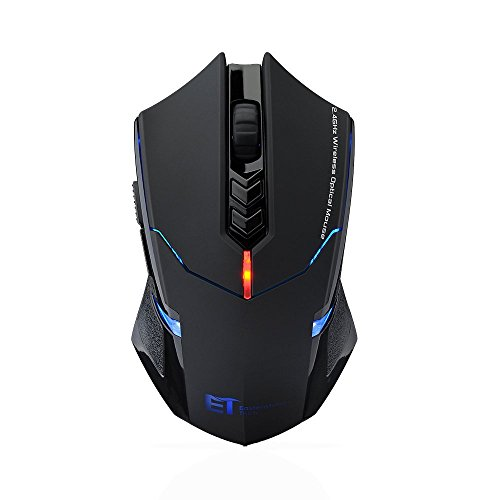 VicTsing 2,4 GHz Maus Schnurlos Kabellos Wireless Optical Mouse Mäuse mit 7 Tasten, 2400 DPI, USB Nano Empfänger