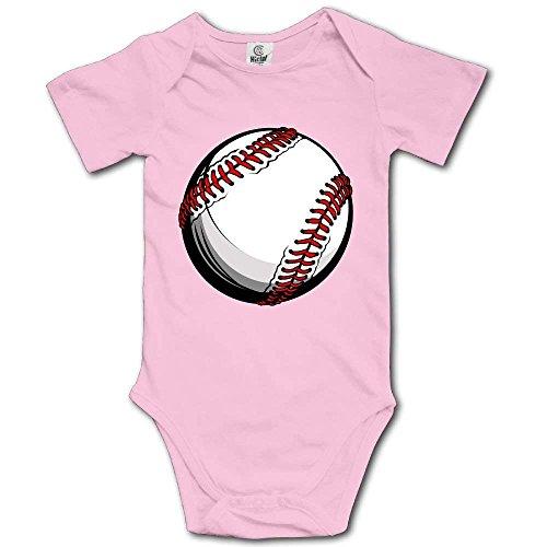 HFJFJSZ Baby Toddler Bodysuit Baseball Infant Onesie Jumpsuit Baseball Infant Bodysuit