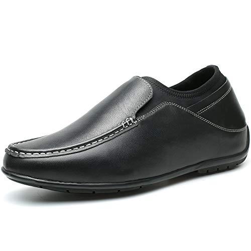 CHAMARIPA Mocassini Scarpe con Rialzo Interno Eleganti Uomo Pelle per Tempo Loafers Fino a 6 cm - H81C40D221D