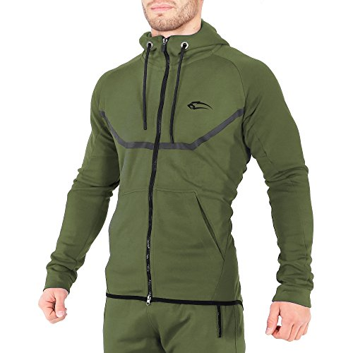 115509366996f3 SMILODOX Sportjacke Herren | Zip Hoodie für Sport Fitness Gym & Training |  TechPro Funktionsshirt -