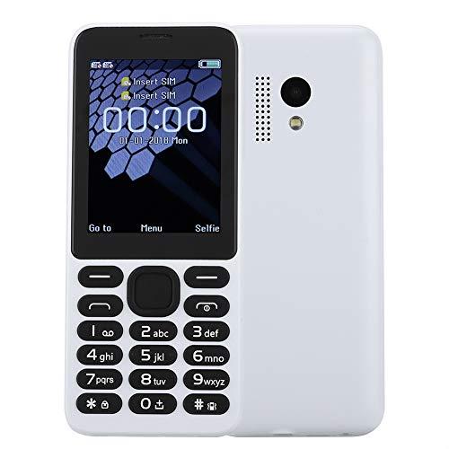 Kafuty Entsperrtes Handy 2,4-Zoll-Quad-Band-Dual-SIM-Karte Große Tasten 2G GPRS Entsperrtes Handy mit Taschenlampe MP3-Player für alte Menschen/Menschen mit Sehschwäche