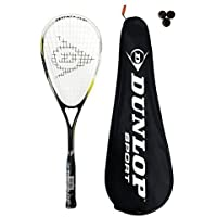 Dunlop Nanomax Ti Squash Racket + 3 Squash Balls RRP £85