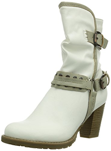 Tamaris 25445, Chaussures montantes femme Blanc (Offwht/Antelop 119)