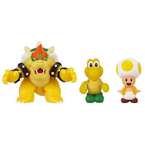 Mario Bros - World of Nintendo Micro Land 3 figura pack: Bowser, Koopa Troopa & Toad (Jakks Pacific JAKKNIN016BKTT)