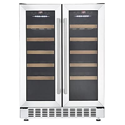 Cookology CWC609SS Stainless Steel 60cm Undercounter Dual Zone Wine Cooler